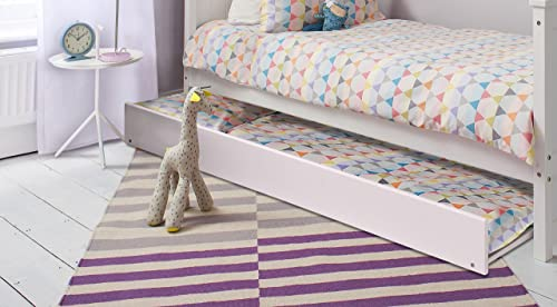 Single Bed In White With Trundle Extra Sleepover Bed 2 In