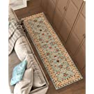 Antique Classic Light Blue 2'7'' x 9'6'' Runner Area Rug Oriental Floral Motif Detailed Classic Pattern Persian Living Dining Room Bedroom Hallway Home Office Carpet Traditional Plush Quality