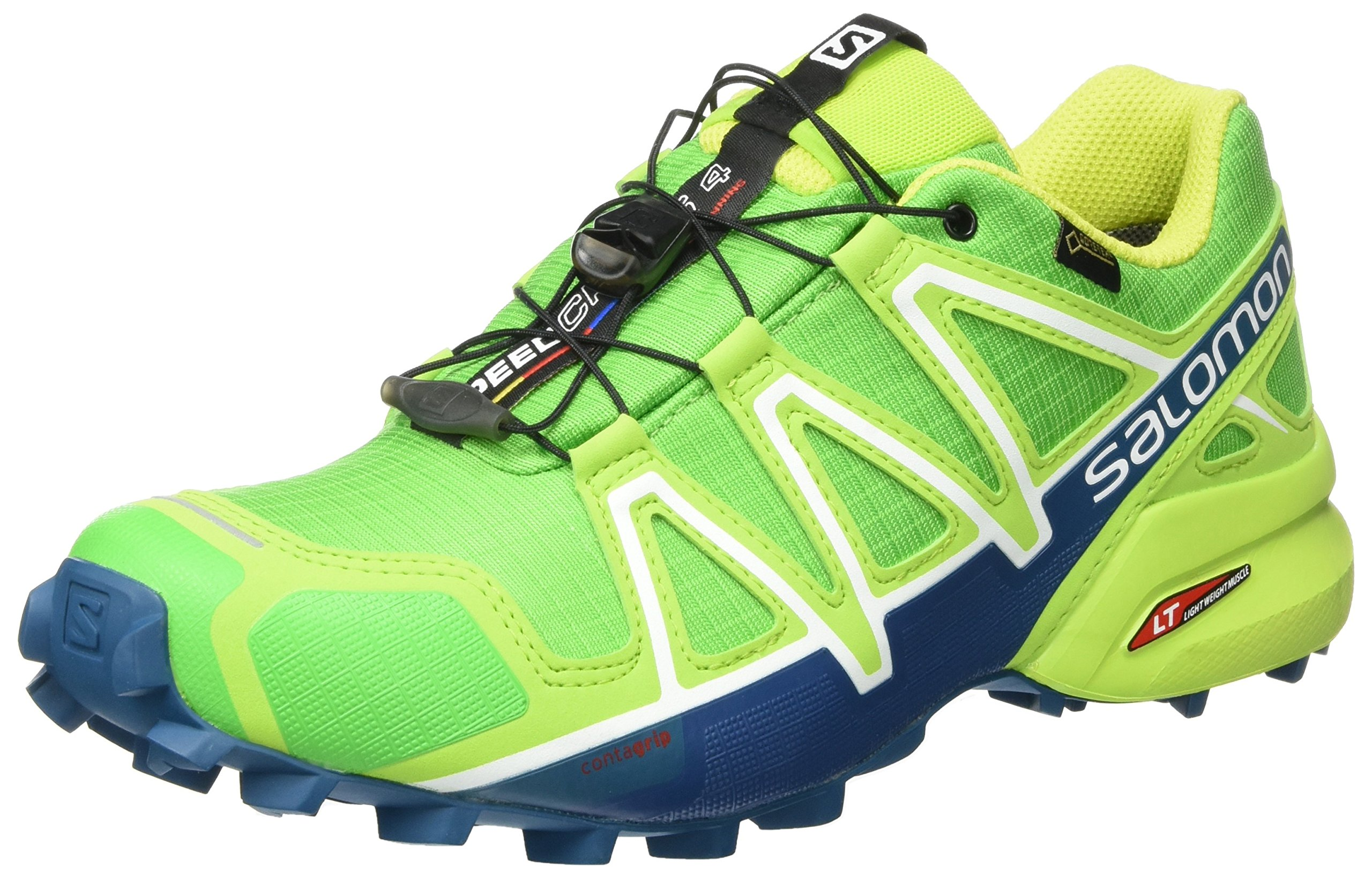 96a4f1a2a8bc Galleon - Salomon Men s Speedcross 4 GTX Classic Green Lime Green Poseidon  Athletic Shoe