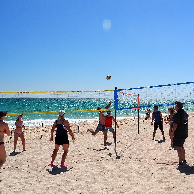 amazon com park u0026 sun sports tri ball volleyball portable