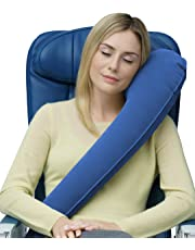 Travelrest - Ultimate Travel Pillow/Neck Pillow - Lean Into it to Sleep - Fall Asleep Faster, Stay Asleep Longer (Rolls Up Small)