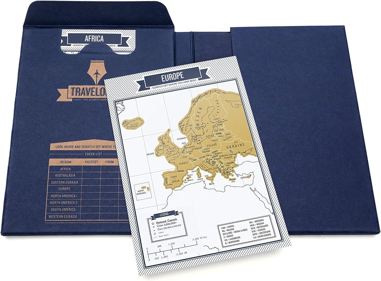 interaktives Reisetagebuch mit Rubbelseiten Luckies of London Travelogue Blaue Edition