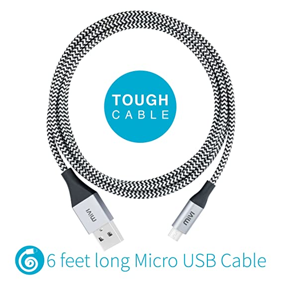 Mivi 6ft 2.4 Amp Nylon Braided Micro USB Cable for: Amazon.in ...