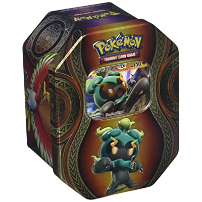 Pokemon TCG: Mysterious Powers Marshadow-GX Tin Collectible Trading Card Set 4 Booster Packs, 1 Ultra Rare Foil Promo Card, Online Code Card: Toys & Games