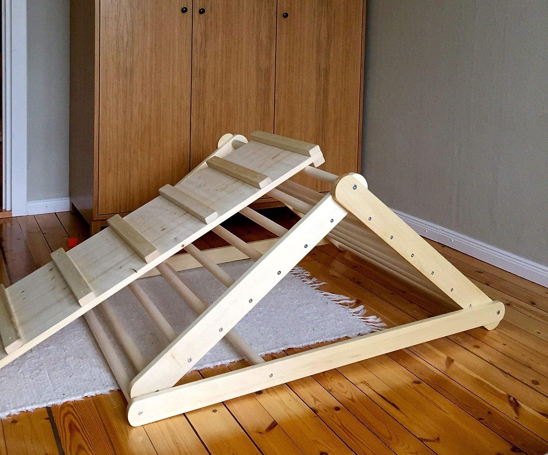 Pikler-Dreieck, Schrittdreieck, Kletterleiter fü r Kleinkinder, Kletterdreieck fü r Kleinkinder,Sie kö nnen Dreieck ohne Brett oder mit einem oder zwei Brettern in den Optionen wä hlen.