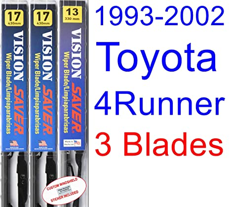 1993-2002 Toyota 4Runner Replacement Wiper Blade Set/Kit (Set of 3 Blades