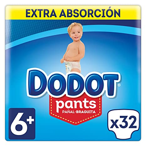 Dodot Pants Extra Pañales, Talla 6 (+16 kg) - 3 x 32