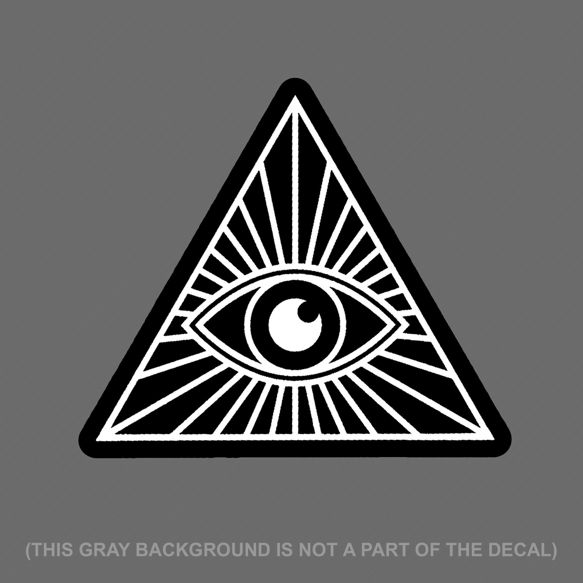 All Seeing Eye Illuminati Nwo Vinyl Decal Sticker 4 Digital Print Dxracer Racing Series Oh Rv001 Nv Black Violed