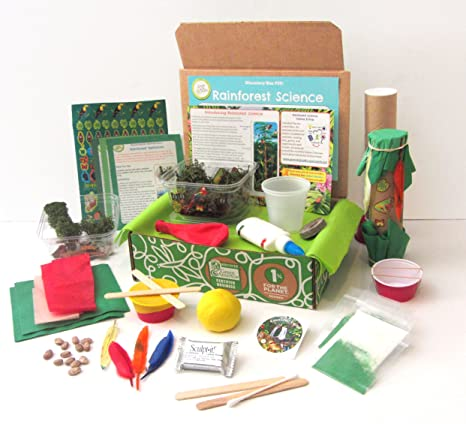Amazon Com Green Kid Crafts Rainforest Science Discovery Box Toys