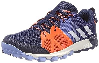 adidas Kanadia 8.1, Chaussures de Trail Homme, Multicolore (Carbon/Core Black/Orange 0), 48 EU