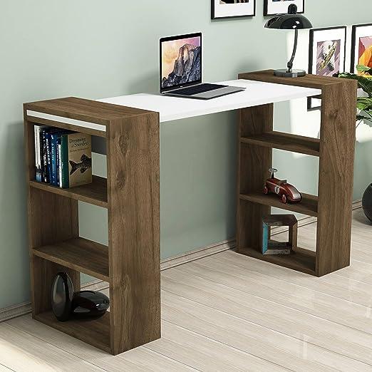 Escritorio para ordenador, moderno y sencillo, diseño de madera ...
