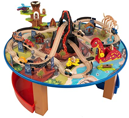 KidKraft Dinosaur Train Set and Table  sc 1 st  Amazon.com & Amazon.com: KidKraft Dinosaur Train Set and Table: Toys \u0026 Games