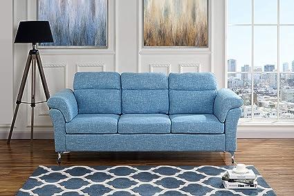 Amazon.com: Upholstered Modern Linen Fabric Sofa, 75.5\
