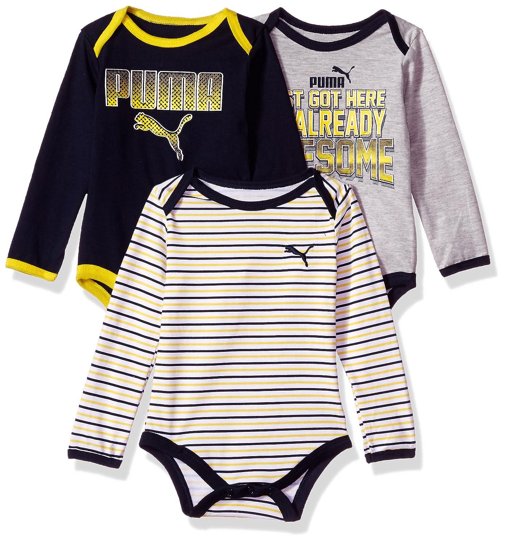 c3deadff6c5a7 PUMA Baby Boys' Three Pack Bodysuit Set