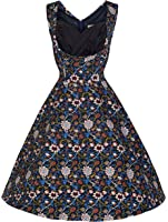 Lindy Bop 'Ophelia' Millésime 1950's Imprimé Fleuri Swing Dress
