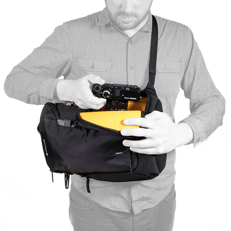 Amazon.com : VANGUARD Sling Backpack, Black (VEO Discover 41) : Camera & Photo