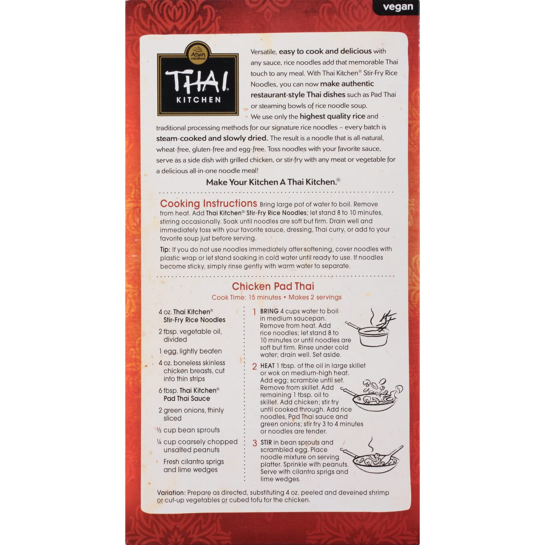Amazon Thai Kitchen Gluten Free Stir Fry Rice Noodles 14 oz