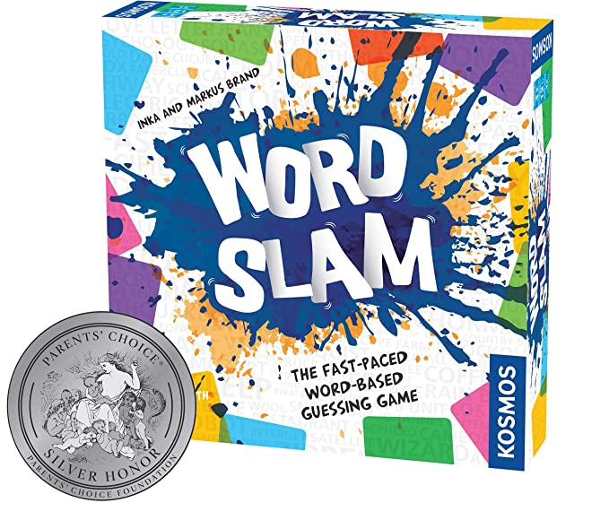 Thames & Kosmos Word Slam Party Game | Family Fun Game Night | Fast-Paced Word-Based Guessing Game | 3 or More Players | Parents' Choice Silver Award Winner | Spiel Des Jahres Recommended