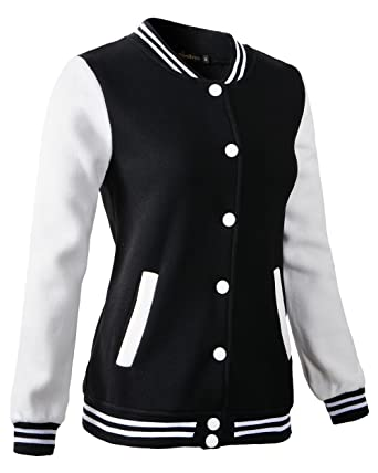 Benibos Women Varsity Jacket Casual Loose Hoodie At Amazon Womens