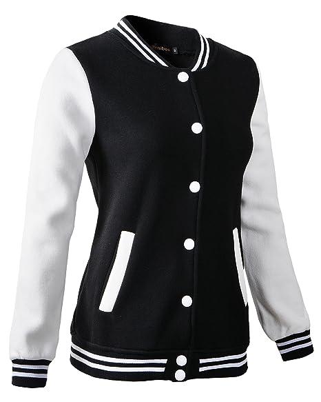 Amazon.com: Chaqueta de béisbol para mujer de Varsity: Clothing