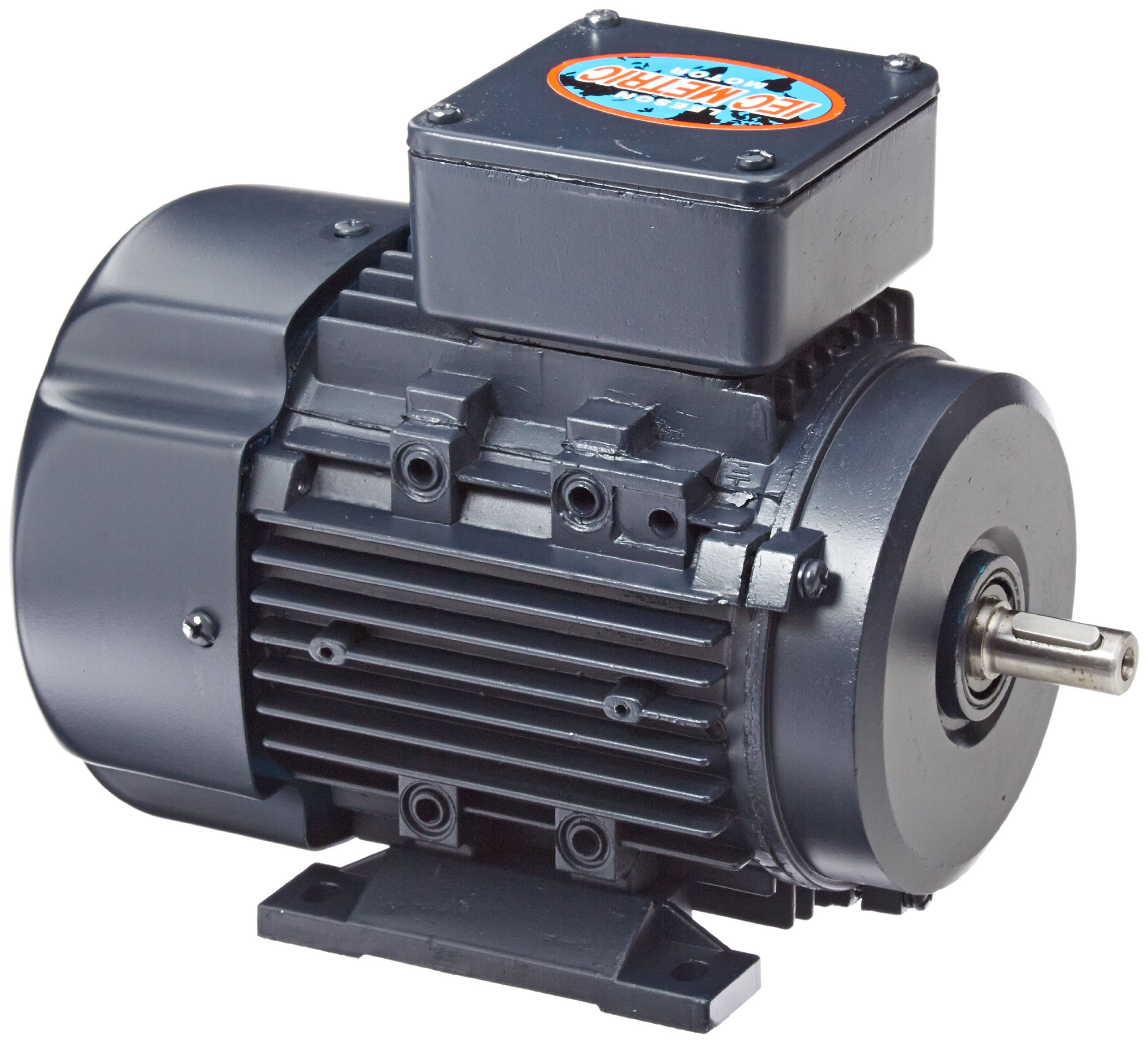 Leeson 192107.00 Rigid Base IEC Metric Motor, 3 Phase, D71 Frame, B3 Mounting, 0.5HP, 1800 RPM, 575V Voltage, 60Hz Fequency by Leeson (Image #1)