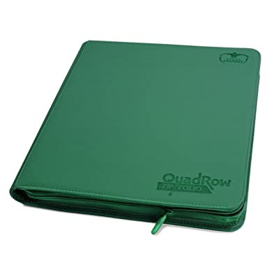 Ultimate Guard Quad Row Zipfolio Xenoskin Card Sleeves, Green: Toys & Games