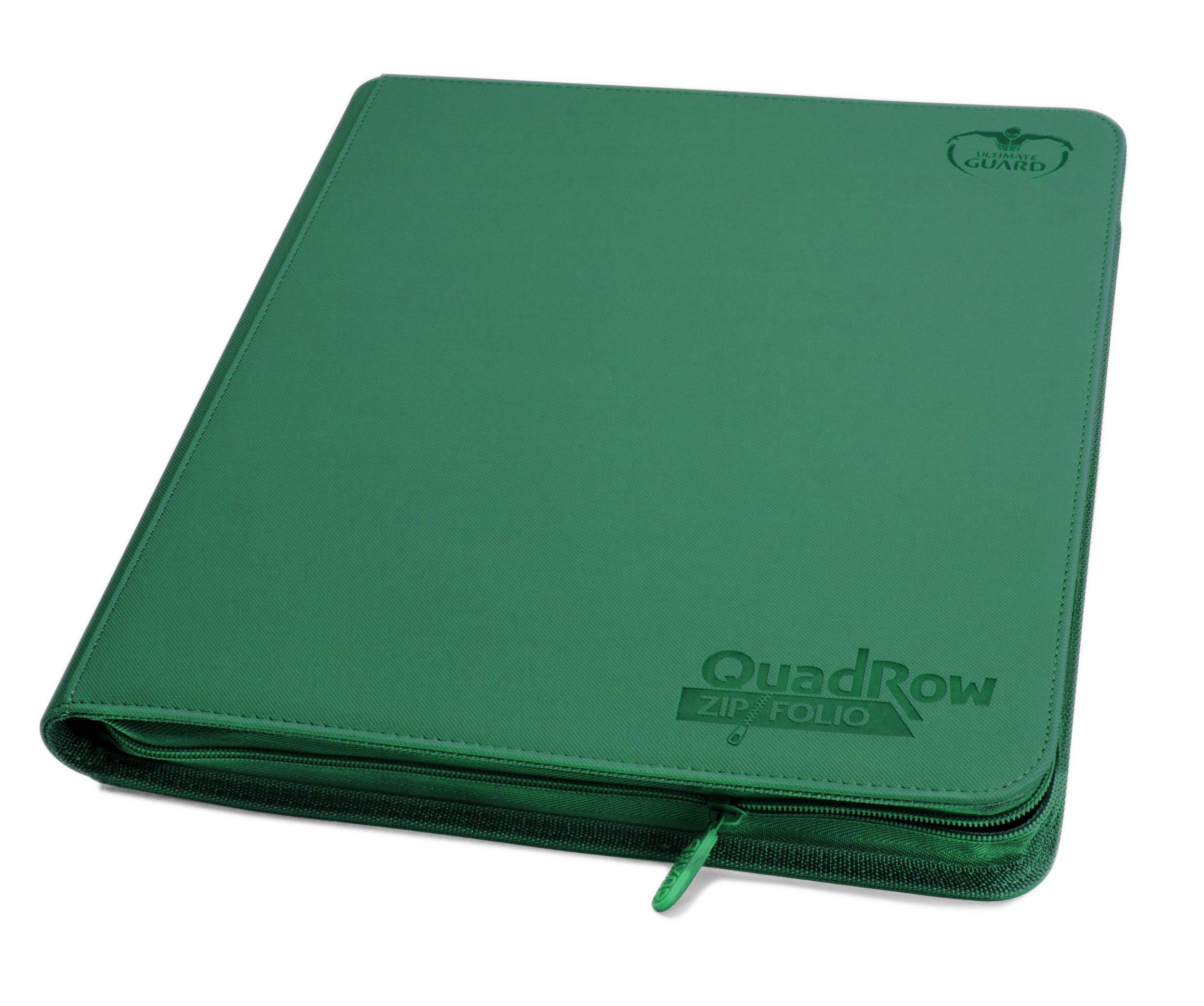 Ultimate Guard Quad Row Zipfolio Xenoskin Card Sleeves, Green