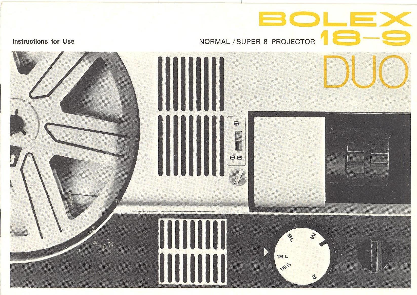 Bolex 18-9 Duo Normal/Super 8 Movie Projector Original Instruction Manual:  Bolex: Amazon.com: Books
