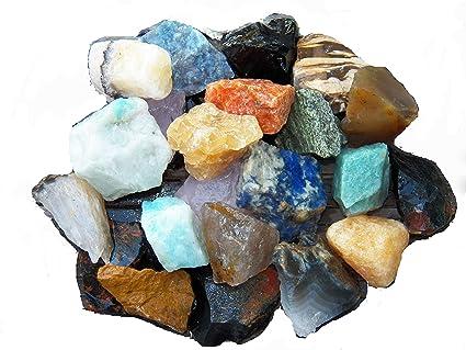 Fundamental Rockhound Products: 1/2 lb Rough BRAZIL MIX Bulk Rock for  Tumbling Metaphysical Gemstones Healing Crystals Minimum 10 DIFFERENT  Stones