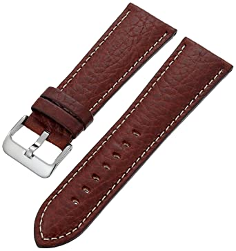 41ad5a72e Hadley Roma Brown 30-Mm Brown Genuine Leather Watch Strap: Hadley Roma:  Amazon.in: Watches