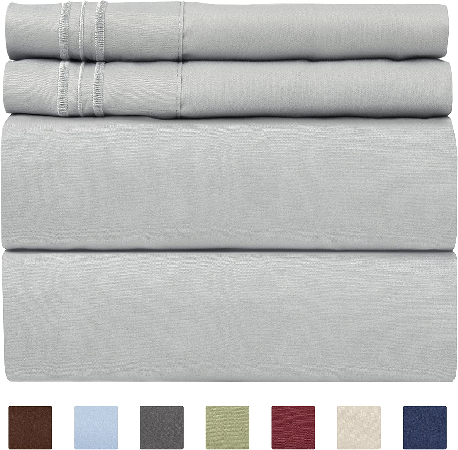 Twin XL Sheet Set - 4 Piece Sheets - Dorm Room Bed Sheets - Hotel Luxury Bed Sheets - Extra Soft - Deep Bed Sheets Pockets - Easy Fit - Breathable & Cooling Touch - Twin XL Sheets for Twin XL Mattress