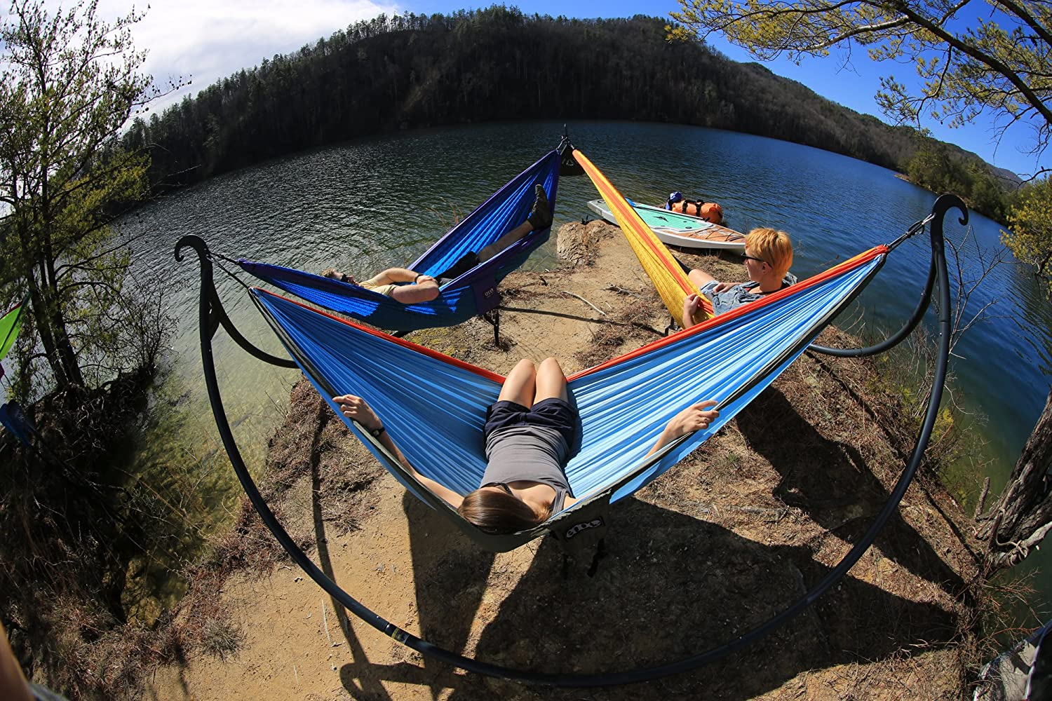 ENO – Eagles Nest Outfitters Pod Triple Hammock Stand, Charcoal