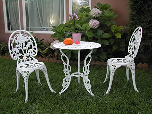 Outdoor Patio Deck Aluminum Furniture 3 Piece Bistro Set E CBM1290