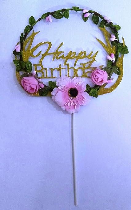 Fine Buy Joyglobal Happy Birthday Glitter Flower Leaves Gold Kids Personalised Birthday Cards Veneteletsinfo