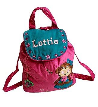 Mochila personalizada con diseño de mono y flor Gran regalo para niños de vuelta a la escuela guardería: Amazon.es: Bebé