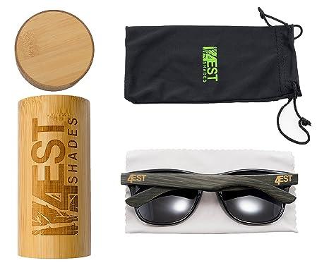 Amazon.com: Gafas de bambú - gafas de sol de madera ...