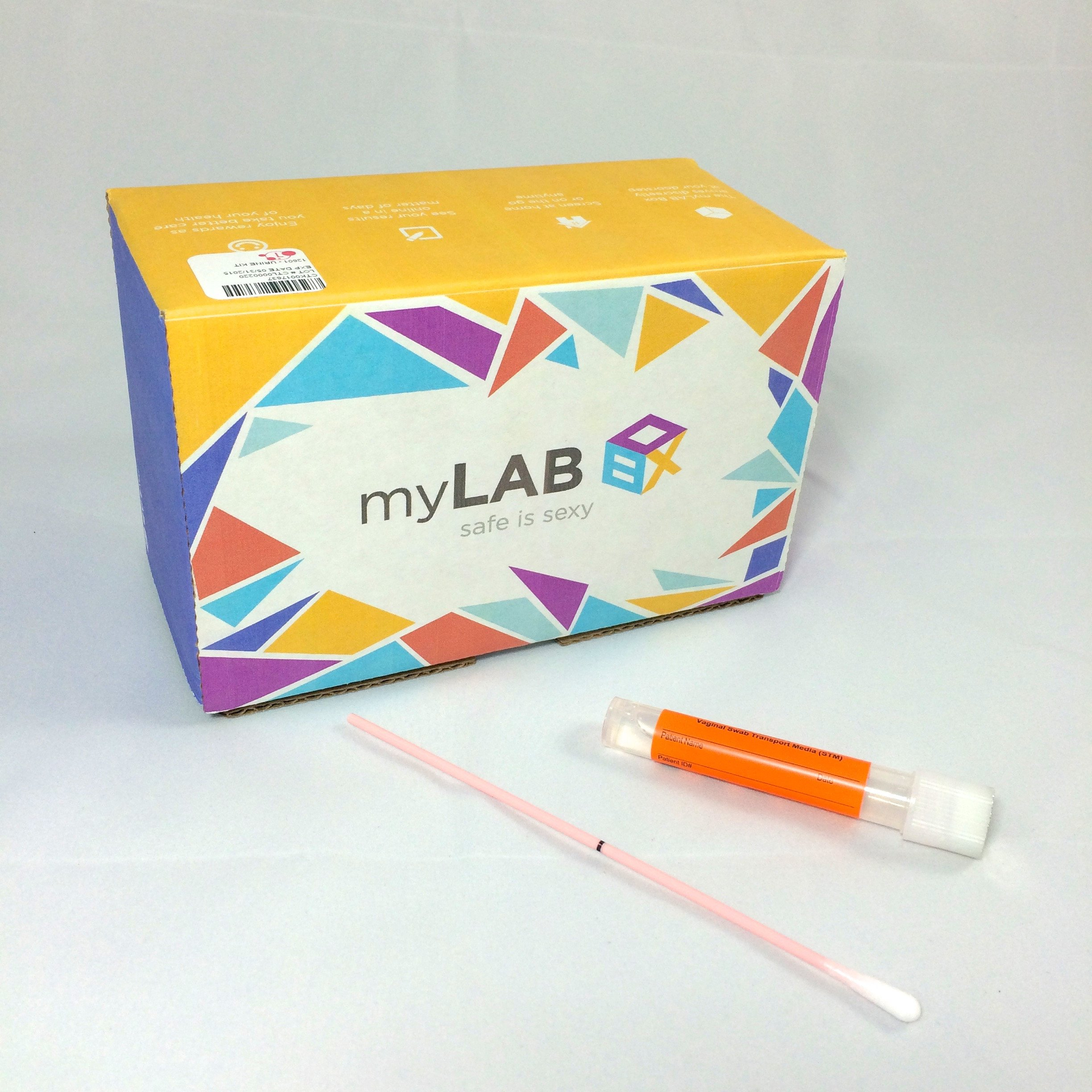 myLAB Box Bundle - Chlamydia/Gonorrhea/HIV Mail-In Test Kit (FEMALE, Lab-Certified Results in 3-5 days) + WaterWorks Natural Vaginal Cleansing System by myLAB Box (Image #2)