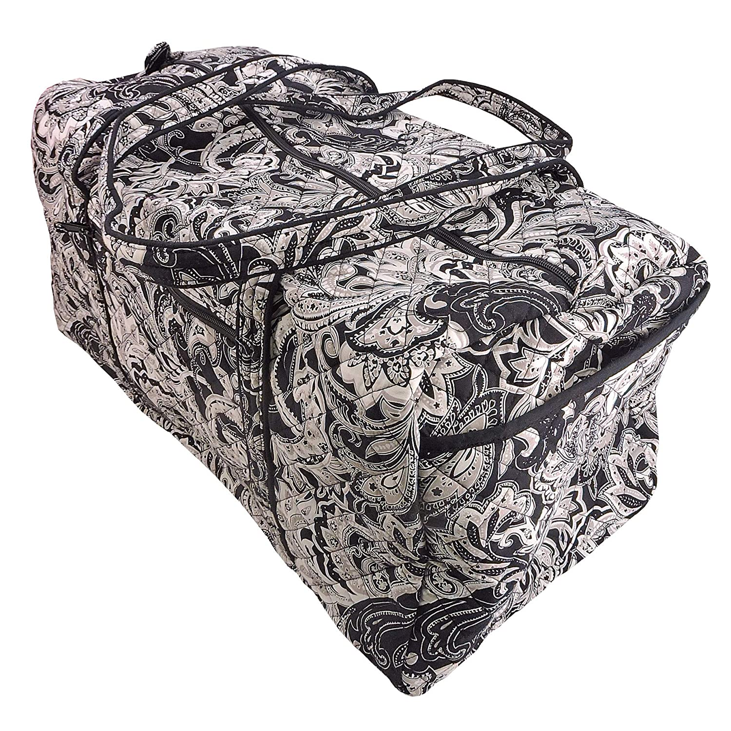 Members Mark Printed Duffle Bag In Black /& White Paisley