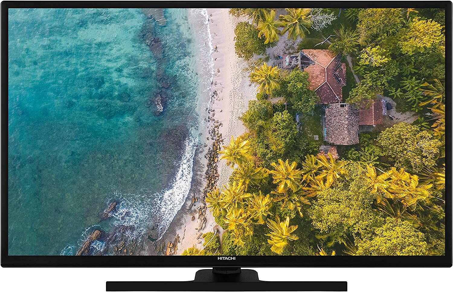 Hitachi HT39F4100C - Televisor de hotel (98 cm/39 pulgadas, Smart TV, incluye Prime Video/Netflix/YouTube, Full HD, Bluetooth, Works with Alexa, sintonizador triple): Amazon.es: Electrónica