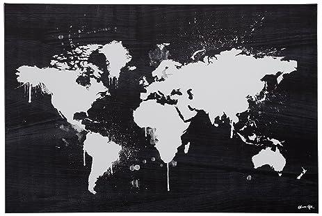 Amazon black and white paint drip world map canvas print 24 x black and white paint drip world map canvas print 24quot gumiabroncs Images
