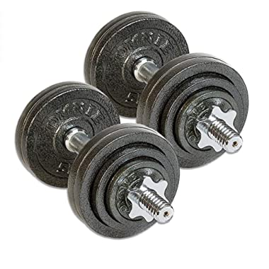 Omnie Adjustable Dumbbells with Gloss Finish and Secure Fit Collars for Crossfit WOD Weightlifting and Bodybuilding for Health Fitness and Flexibility. Available in 65 LBS, 105 LBS and 200 LBS (Pair)