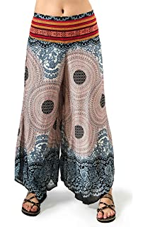 Olive Three Cranes Gallery TCG Womens Wide Leg Print Pants