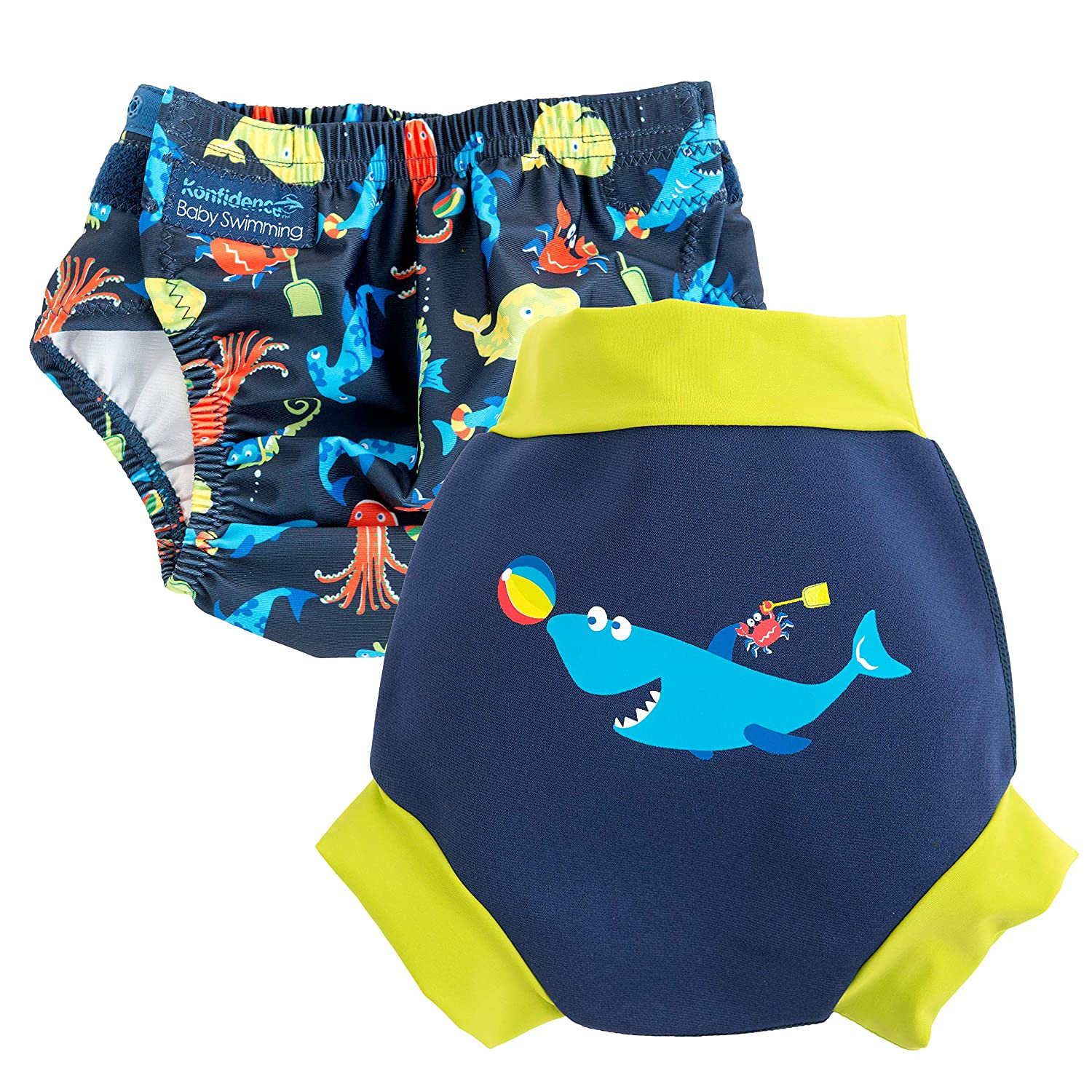 One Size Swim Nappy & NeoNappy Cover (Sea Friends & Fergal, 18-24kg) Konfidence