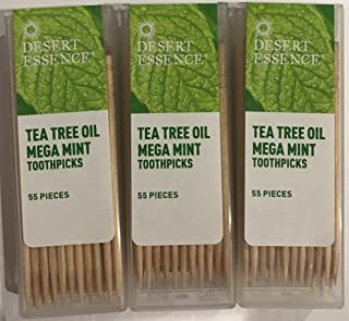product image for Desert Essence Tea Tree Oil Mega Mint Toothpicks - 3 Pack - 55 Pieces Each
