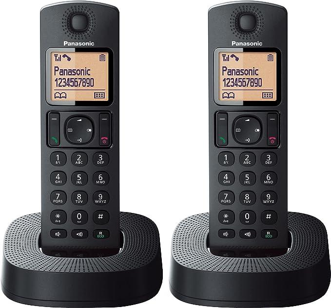 Teléfono inalámbrico Panasonic digital con bloqueo de llamadas molestas, color negro: Amazon.es: Electrónica