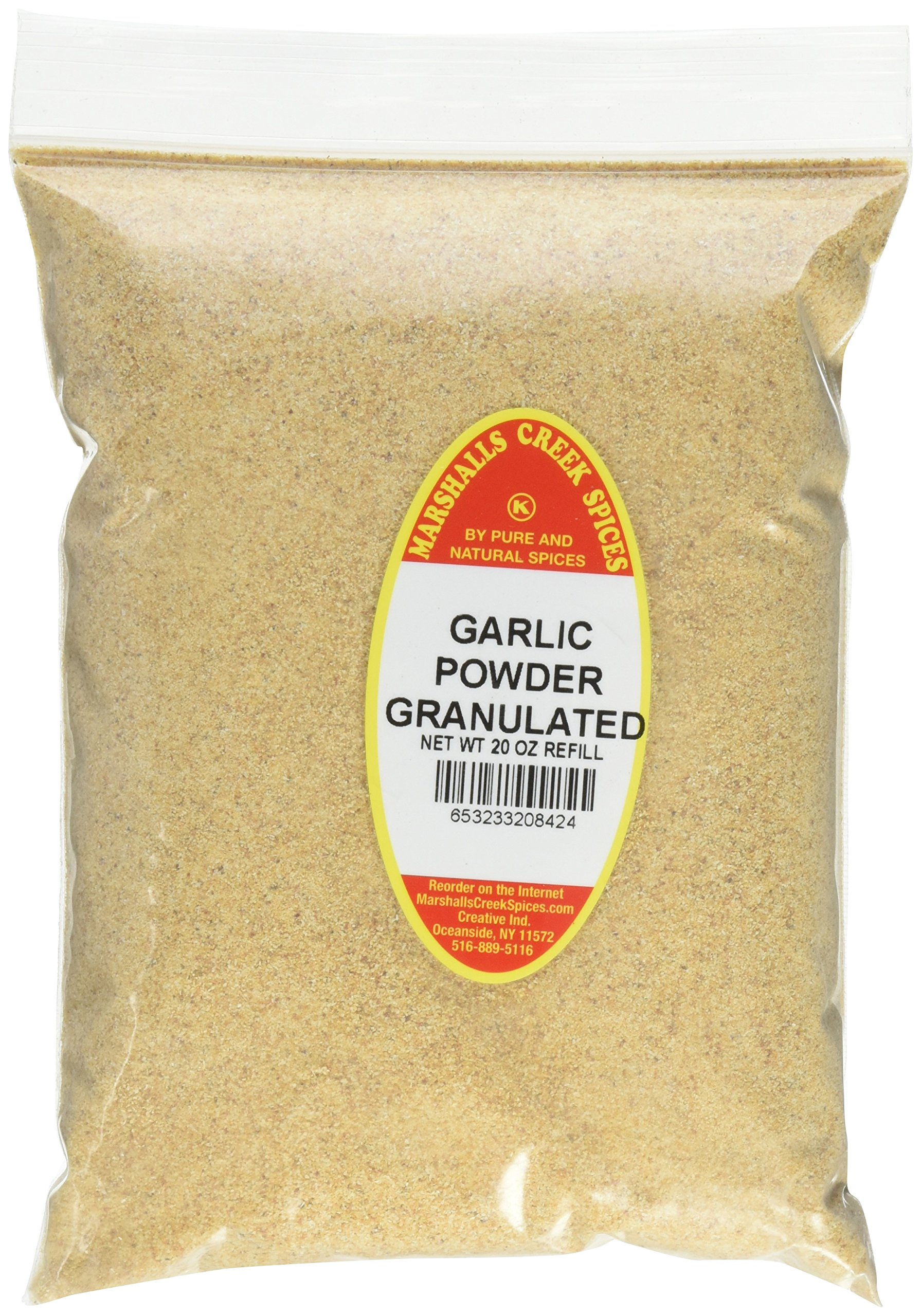 Marshalls Creek Spices Kosher Granulated Garlic Powder Refill, 20 Ounce