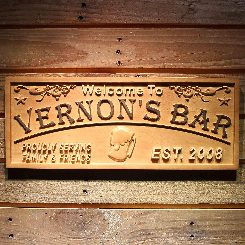 AntonioKe75 Panneau en Bois pour Bar /à Whisky Personnalisable avec nom du propri/étaire de Bar Cadeau en Alcool am/éricain D/écoration Rustique Vintage Fait /à la Main 6 x 24 649