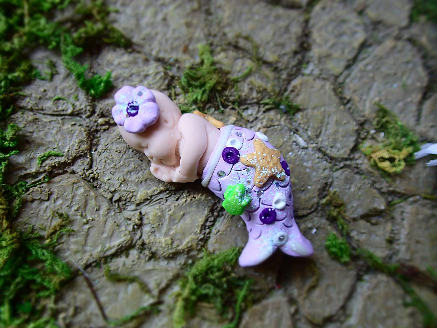 MADE IN USA FAST DELIVERY! MERMAID OF THE SEA Dollhouse Miniature Art Picture