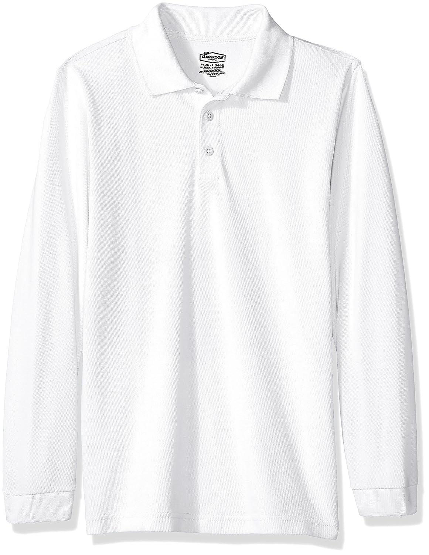 Classroom Kids Big Boys' Uniform Long Sleeve Pique Polo 58352