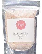 Yogti[Canadian Company] Himalayan Pink Salt - 100% Natural And Healthy Gourmet Unrefined Pink Salt From Deep Under The Himalayan Mountains, Coarse - 1 LB